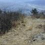 虚空蔵山山頂から東側尾根へ