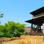 展望台と城址碑