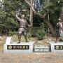 引馬城跡(浜松元城町東照宮)にある銅像[提供:浜松市]