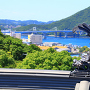 初夏の小鳴門海峡と模擬鯱