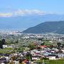 勝沼ぶどう郷から石和、甲府市街を望む