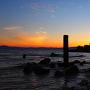 太閤井戸からの琵琶湖夕焼け