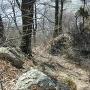 ケムリの城南面の堀切