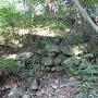 発心公園裏山の石垣跡
