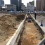 市役所前の発掘調査