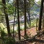 本丸からの村落の眺め