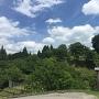 駐車場から見た田峯城