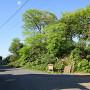 住宅地にある富士見櫓跡