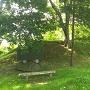 本丸御隅櫓跡の土塁