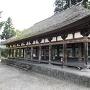 新宮熊野神社「長床」<37.619064,139.830626>