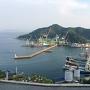 城址から見た木浦港