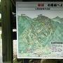 七尾城史資料館入口にある案内図