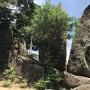 合格祈願の八丈岩(見張り台)