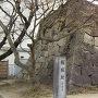 隅櫓跡と石碑。
