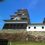 大洲城 本丸井戸から見た天守と高欄櫓