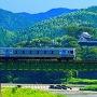 大洲城 お城と電車