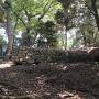 虎口の櫓台石垣