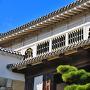 「菱の門」上部の意匠 出格子窓、真壁造りも含めて