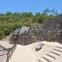 古代山城の石垣