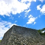堀から見た天守台