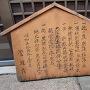 若江城址の表示板