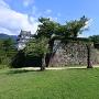 天守と本丸石垣