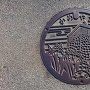 マンホールの亀山城