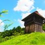 西物見矢倉と本丸高櫓を見上げる(西の丸より)