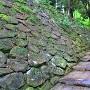 外郭より登城時の石垣