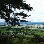 お茶屋場跡(展望台)から会津美里町を見る