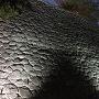 松山城 夜の石垣(待合番所跡付近)