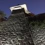 松山城 夜の石垣
