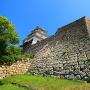 丸亀城 吉井勇の歌碑付近の石垣