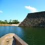 高松城 城舟から見える天守台