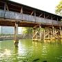 高松城 城舟からの鞘橋