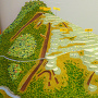 小島城遺構配置模型