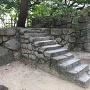 棗木門付近の石段