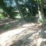 諏訪曲輪から侍屋敷跡方面