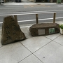リバーサイドホテル付近にある外堀跡の碑