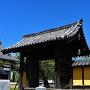 移築陣屋門より岐阜城を遥かに望む