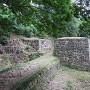 物見台下虎口の石垣土塁