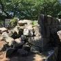 北ノ御門石垣の崩落箇所と補強石垣