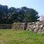 海岸線の石垣