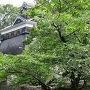 飯田丸五階櫓下の石垣(備前堀前から)