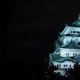台風を静かに待つ名古屋城