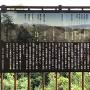 案内板「松尾城を望む」