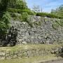 上野城跡碑から右手に続く石垣
