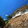 福山城 月見櫓と飛行機雲
