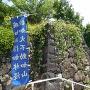 風林火山の旗(逆向き)と石垣