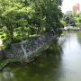 城内から観た水堀